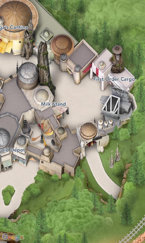 Star Wars Galaxy's Edge Map Disneyland App Shops