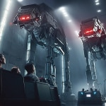 Star Wars: Rise of the Resistance ride details, ride vehicle, facing off against AT-AT's