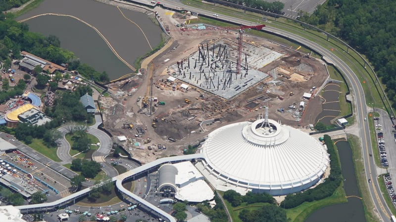 TRON Roller Coaster Construction Update May 2019 with Space Mountain