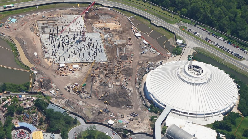 TRON Roller Coaster Construction Update May 2019 near Space Mountain