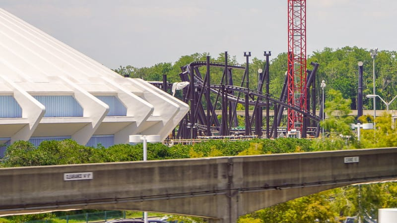 TRON Roller Coaster Update May 2019 from Monorail