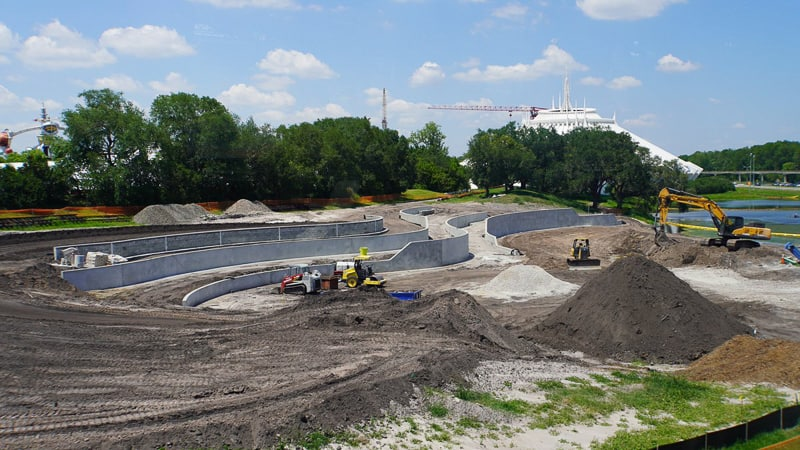 TRON Roller Coaster Update May 2019 Berm Walls