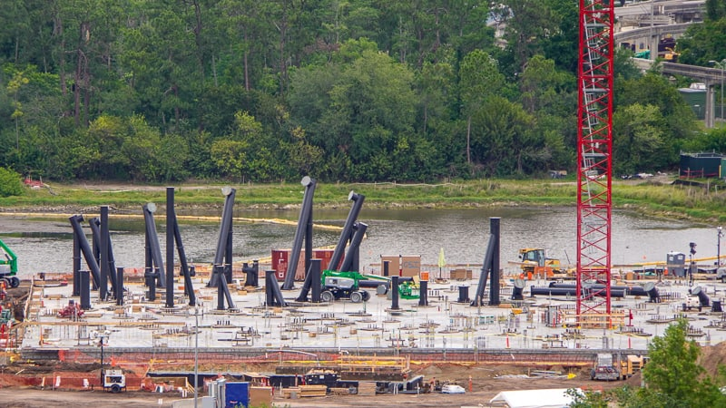 TRON Roller Coaster Construction Update May 2019 coaster footings