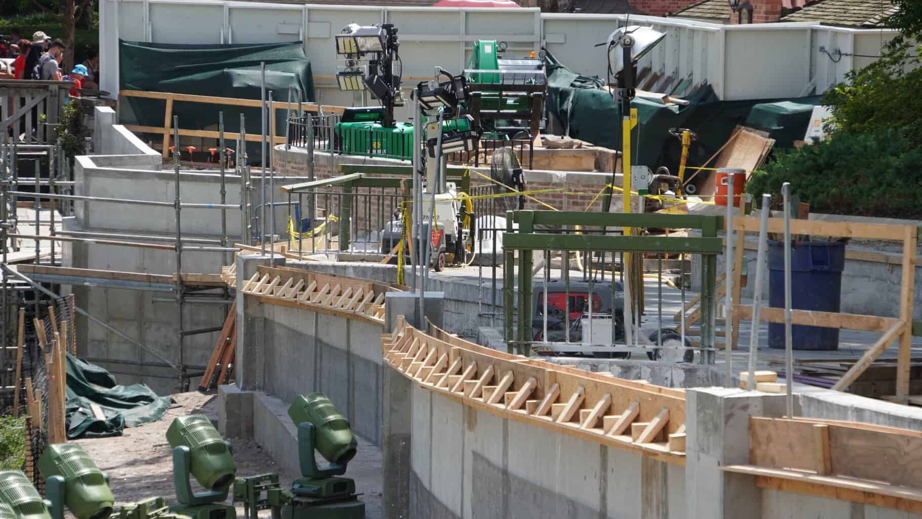 machines used to widen pathway near Cinderella Castle in magic Kingdom