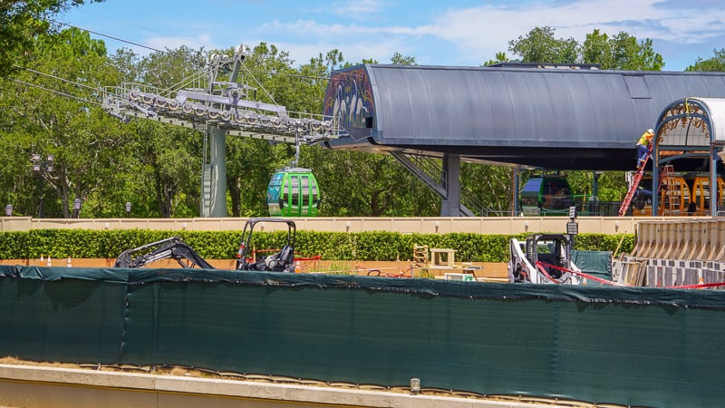 Disney Skyliner Gondola Construction Updates June Epcot station