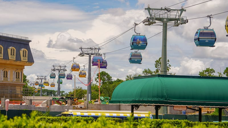 Disney Skyliner Gondola Construction Updates June behind France