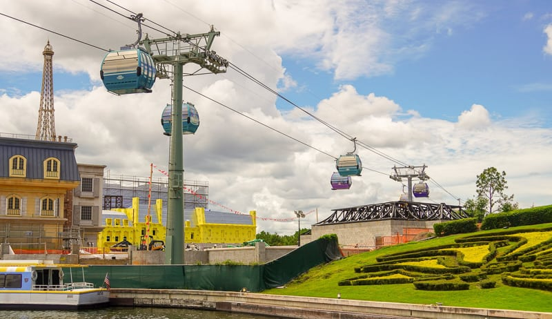 Disney Skyliner Gondola Construction Updates June testing past France