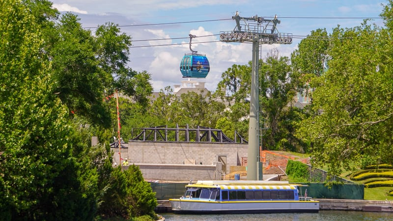Disney Skyliner Gondola Construction Updates June coming over friendship boats
