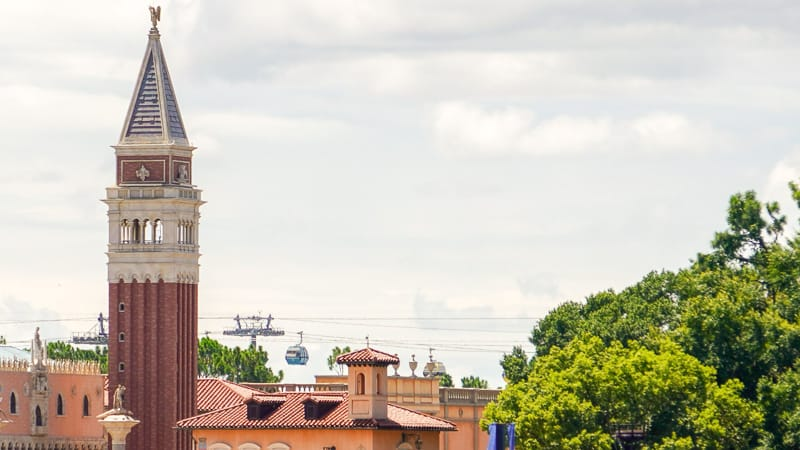 Disney Skyliner Gondola Construction Updates June Italy in epcot