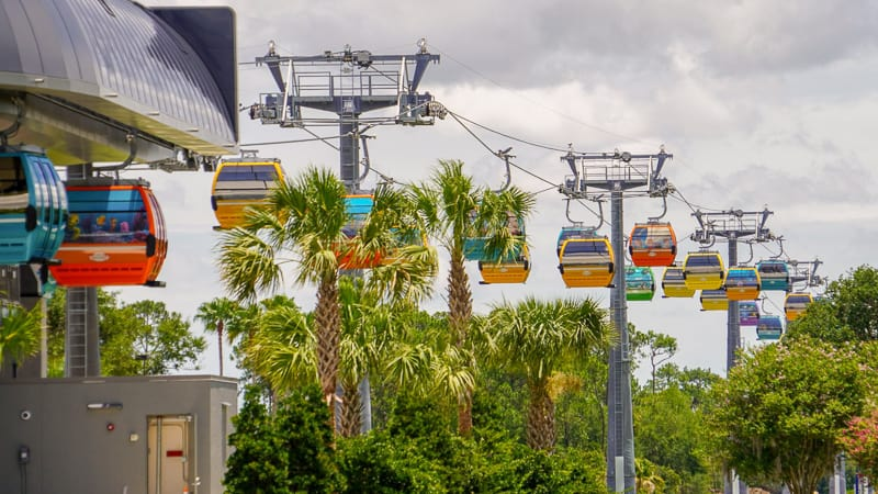 Disney Skyliner Gondola Construction Updates June Riviera and Epcot line