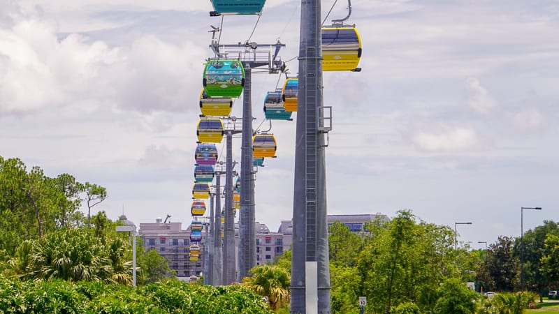 Disney Skyliner Gondola Construction Updates June on the Epcot Line
