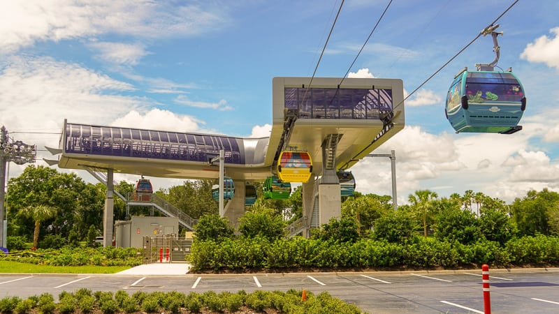 Disney Skyliner Gondola Construction Updates June between Riviera Resort and Epcot