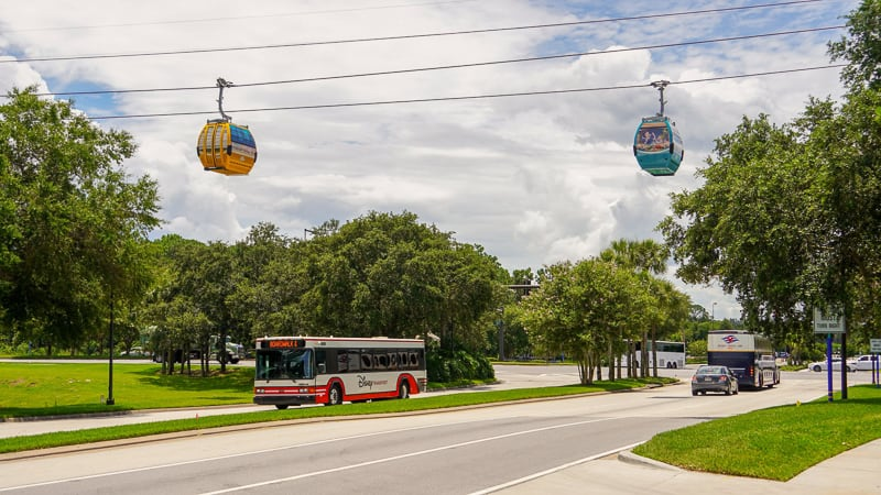 Disney Skyliner Gondola Construction Updates June over the street