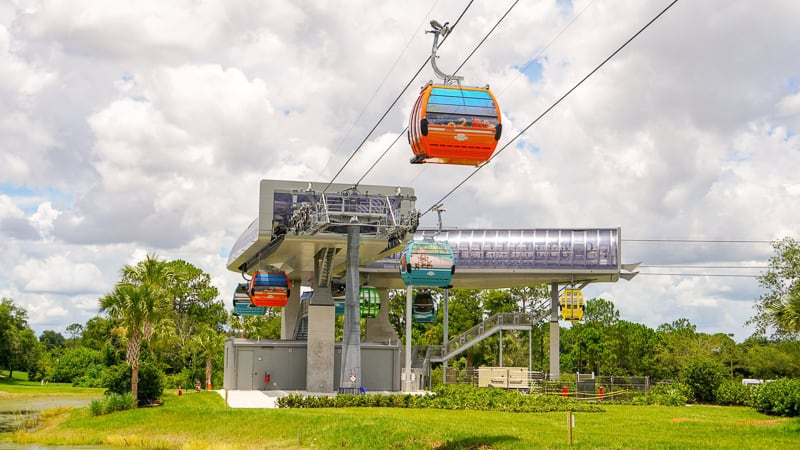 Disney Skyliner Gondola Construction Updates June turn station testing