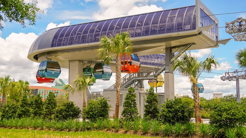 Disney Skyliner Gondola Construction Updates June turn station