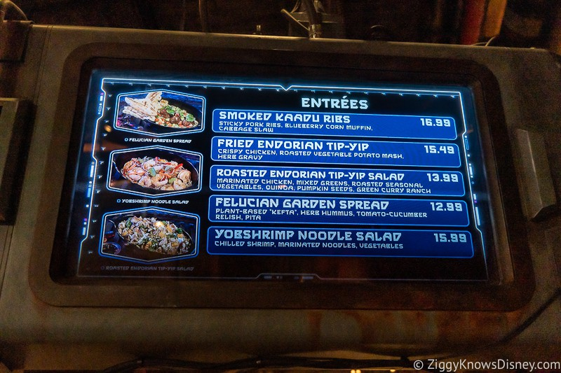 Docking Bay 7 Food and Cargo menu entrees
