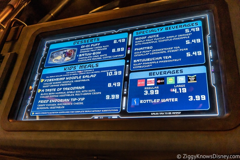 Docking Bay 7 Food and Cargo menu dessert and kids