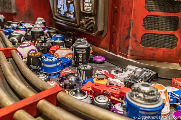 Droid Depot parts on conveyor belt