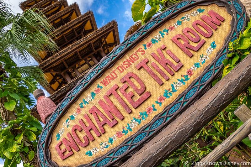 Entrance sign for Enchanted Tiki Room Disney's Magic Kingdom