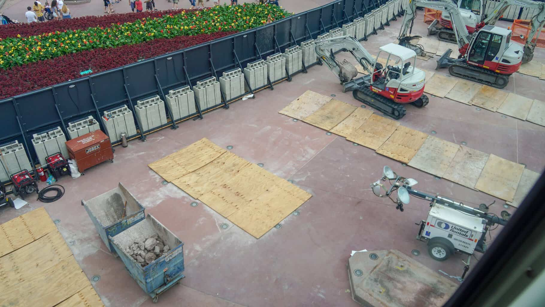 Epcot Entrance Demolition June 2019 Monoliths Gone