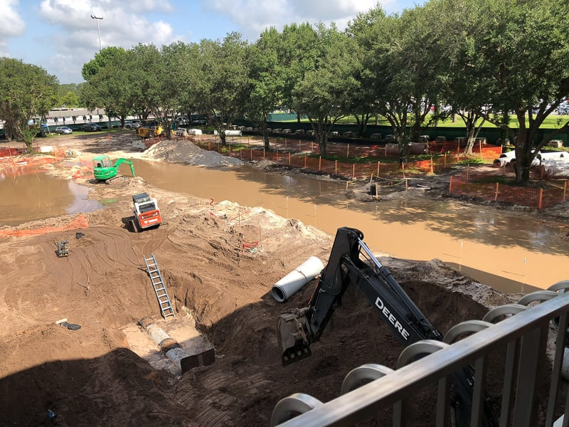 epcot entrance construction June 2019