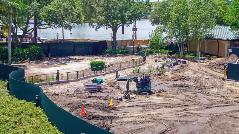 Epcot Sidewalk Shortcut Construction update June