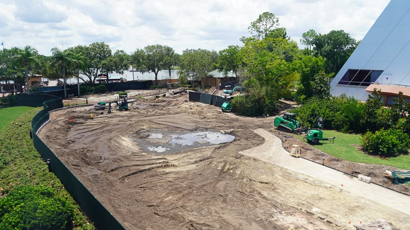 Epcot Sidewalk Shortcut Construction update