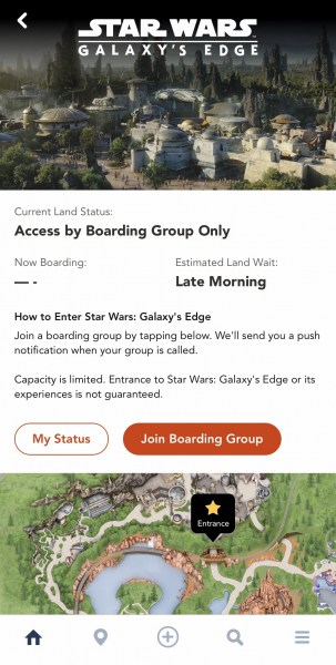 Star Wars Galaxy's Edge Virtual Queue Disneyland