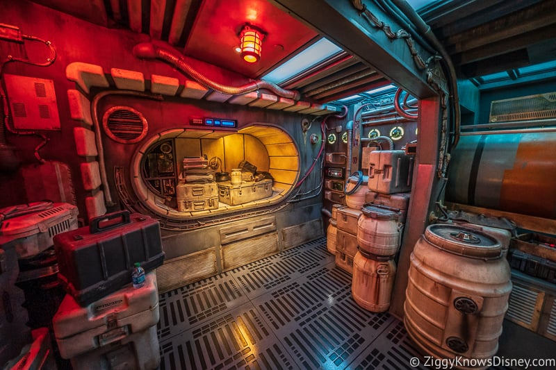 inside the Millennium Falcon in Galaxy's Edge