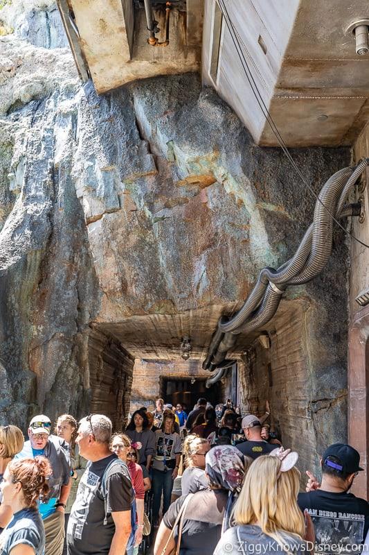 Millennium Falcon Smuggler's Run Ride under the rocks
