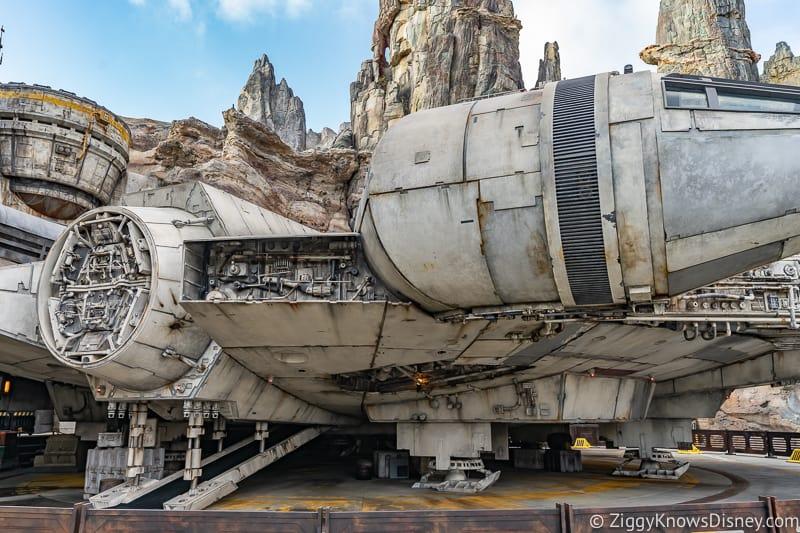 closeup Millennium Falcon Smuggler's Run Ride