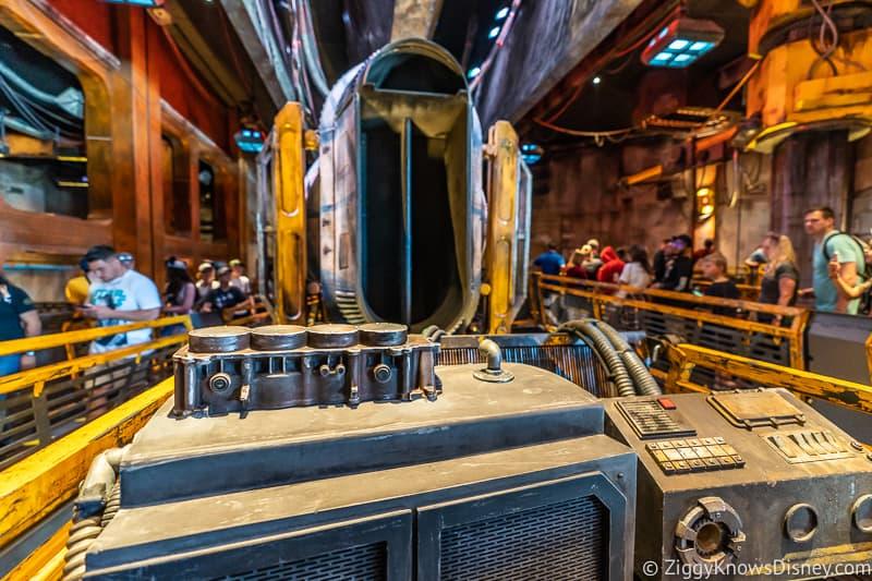 Millennium Falcon Smuggler's Run Ride huge engine