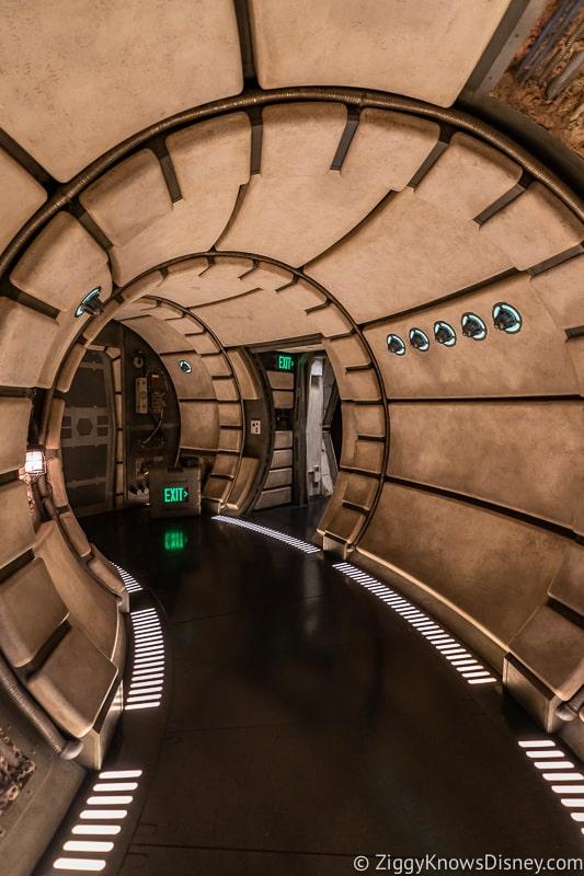 Millennium Falcon Smuggler's Run Ride hallway entering