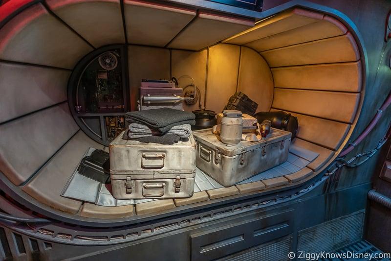 gear in holding area of Millennium Falcon Smuggler's Run