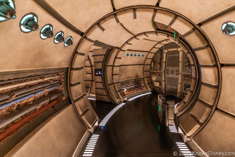 Millennium Falcon Smuggler's Run Ride hallway