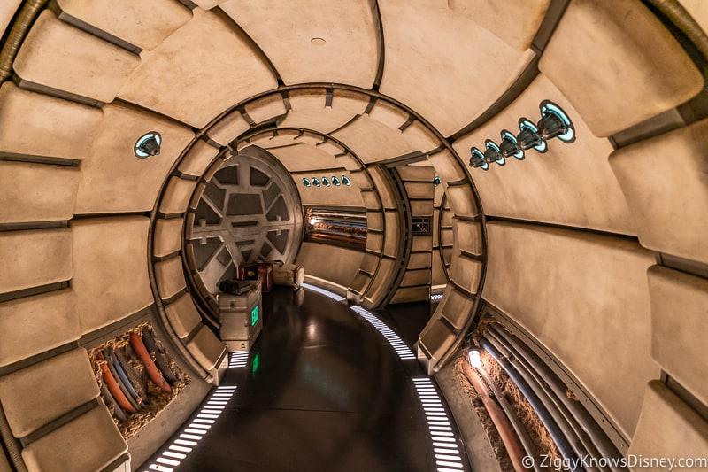 Millennium Falcon Smuggler's Run exit hallway