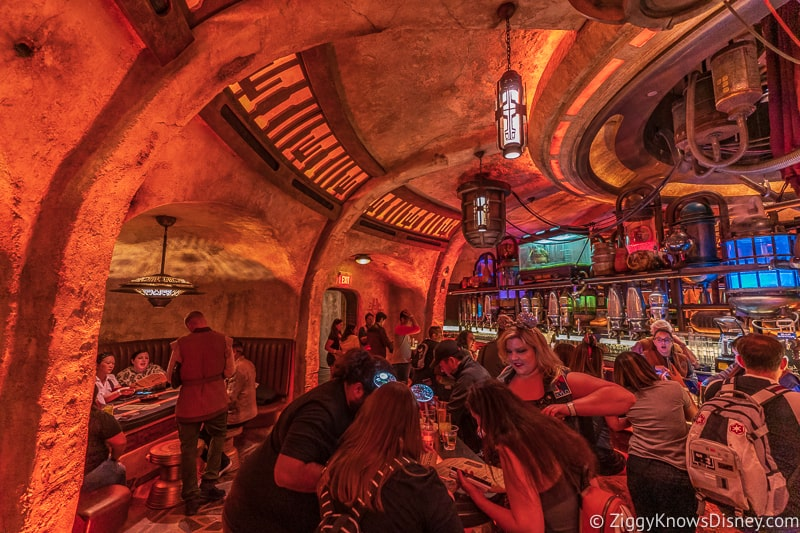 bar tables in Oga's Cantina