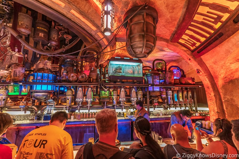 right side bar Oga's Cantina Galaxy's Edge