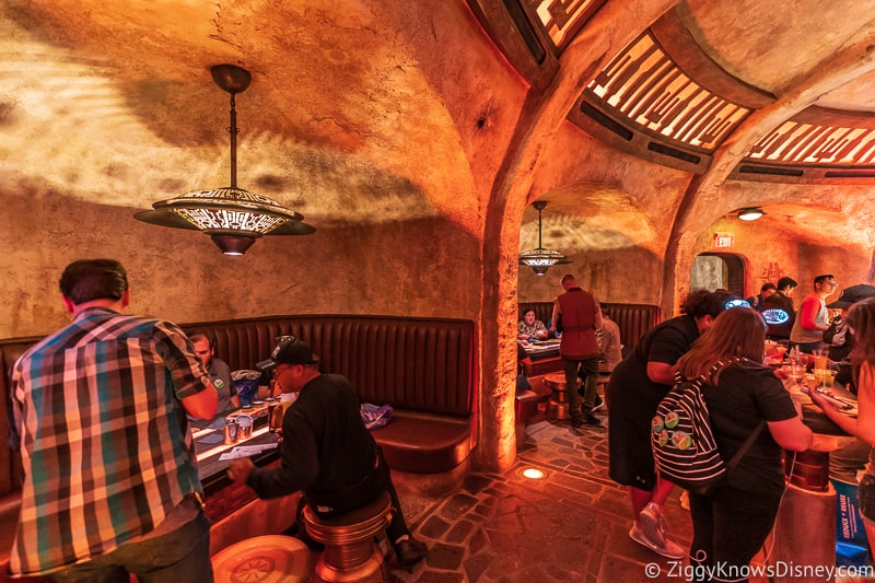 booths in Oga's Cantina Galaxy's Edge