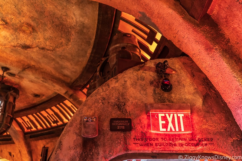 exit sign Oga's Cantina