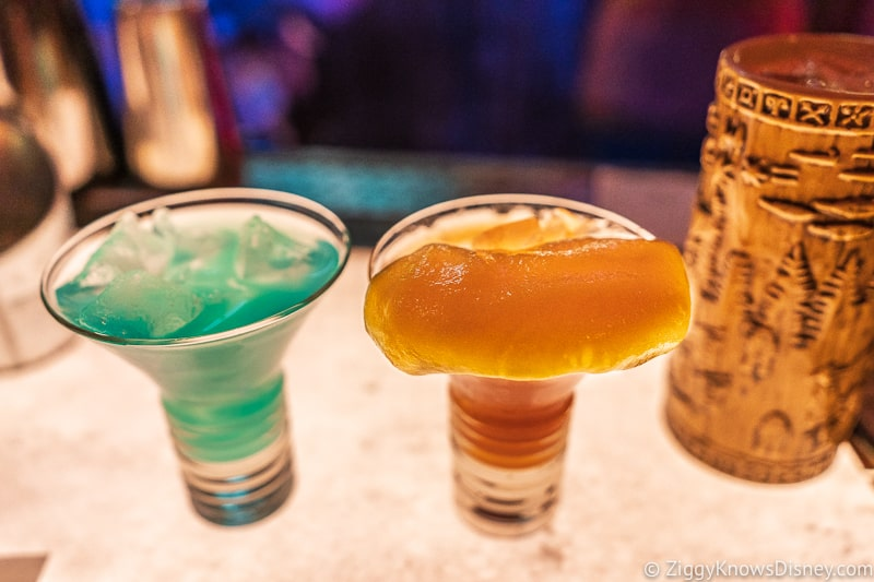 drinks in Oga's Cantina Galaxy's Edge
