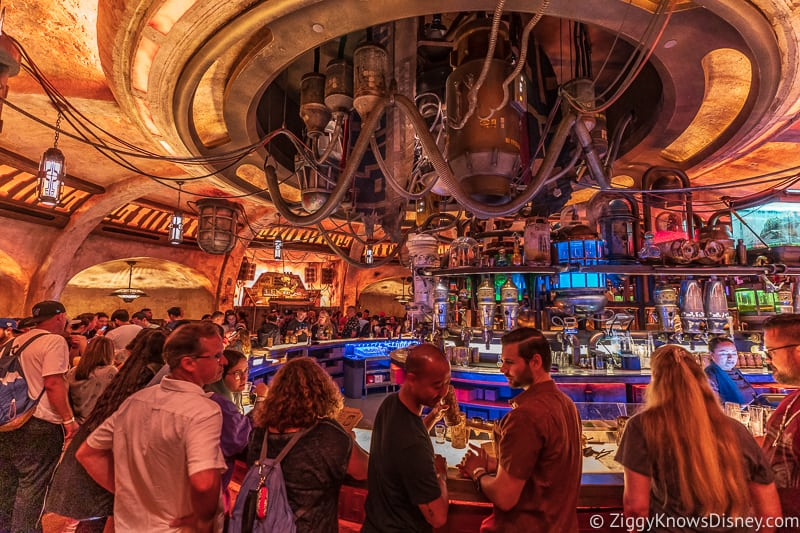 the bar in Oga's Cantina Galaxy's Edge