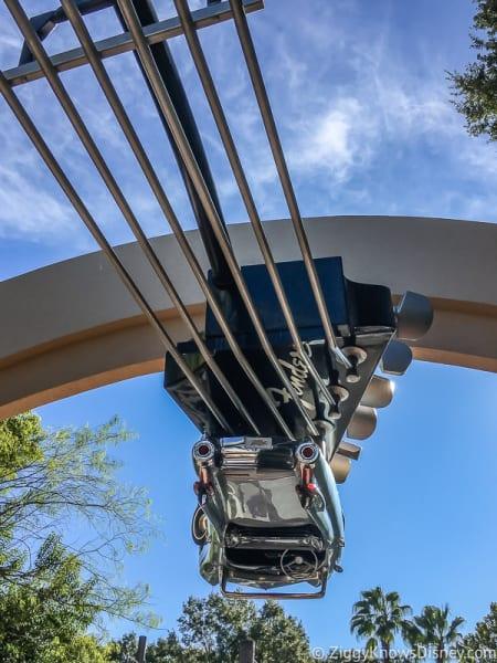 Upside Down car at Rock 'n' Roller Coaster entrance
