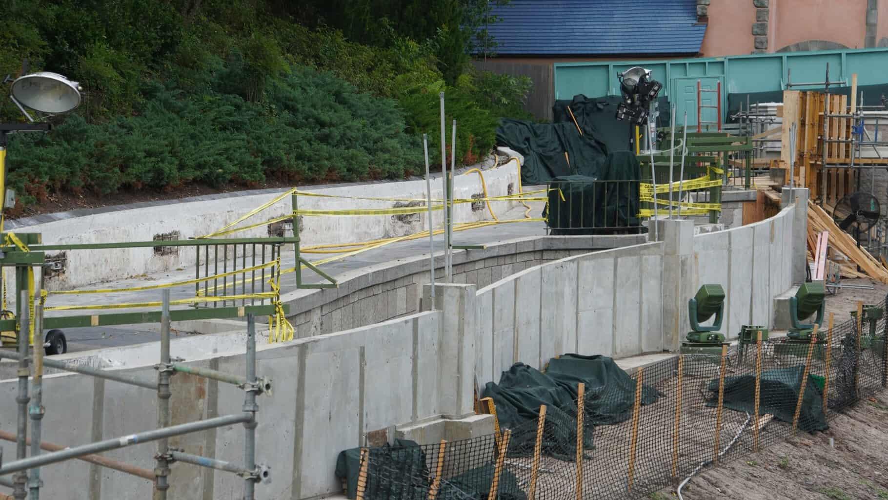 Cinderella Castle Pathway cement wall