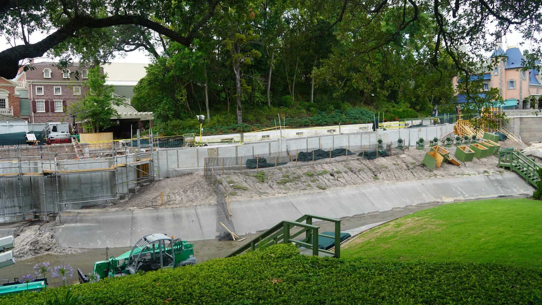 Cinderella Castle Pathway Expansion Magic Kingdom side of the moat