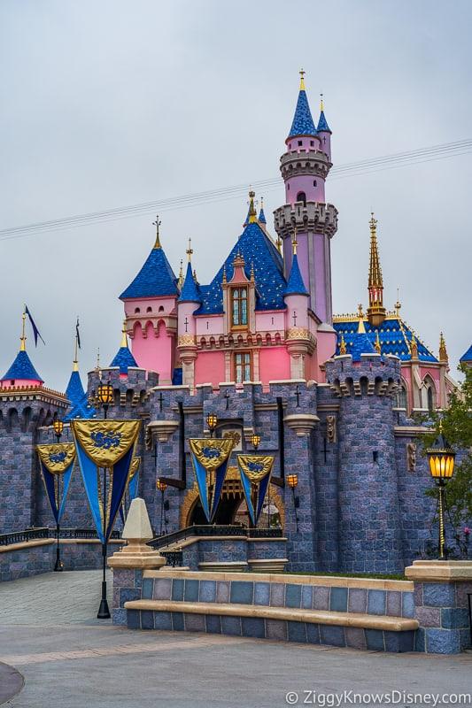 front right side of Sleeping Beauty Castle Disneyland