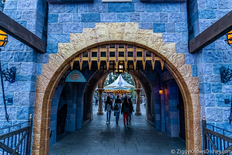 Sleeping Beauty Castle Disneyland gate