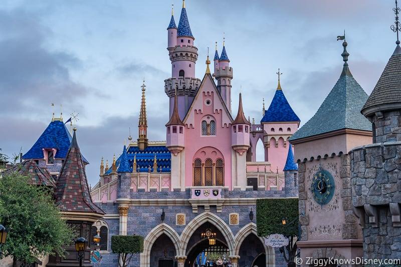back of Sleeping Beauty Castle Disneyland