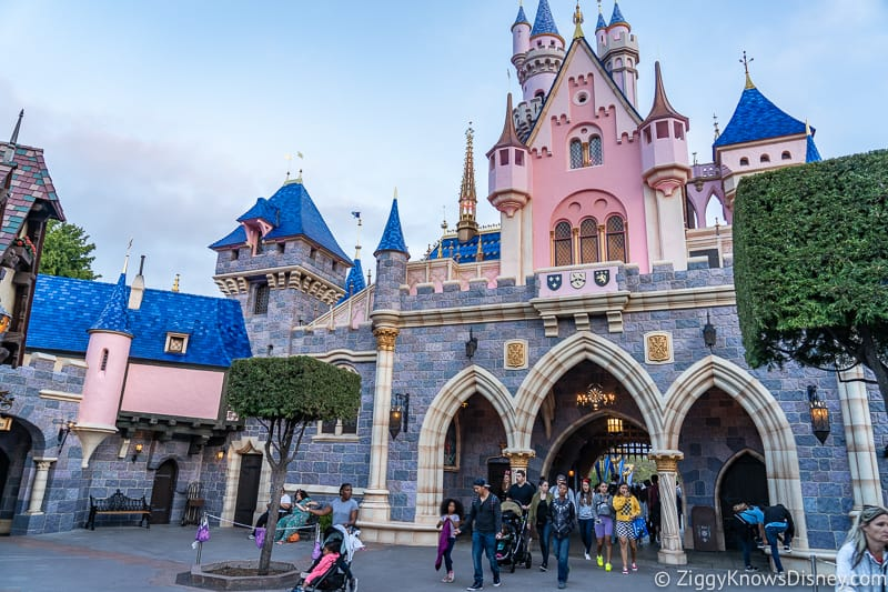 Sleeping Beauty Castle Disneyland in the back