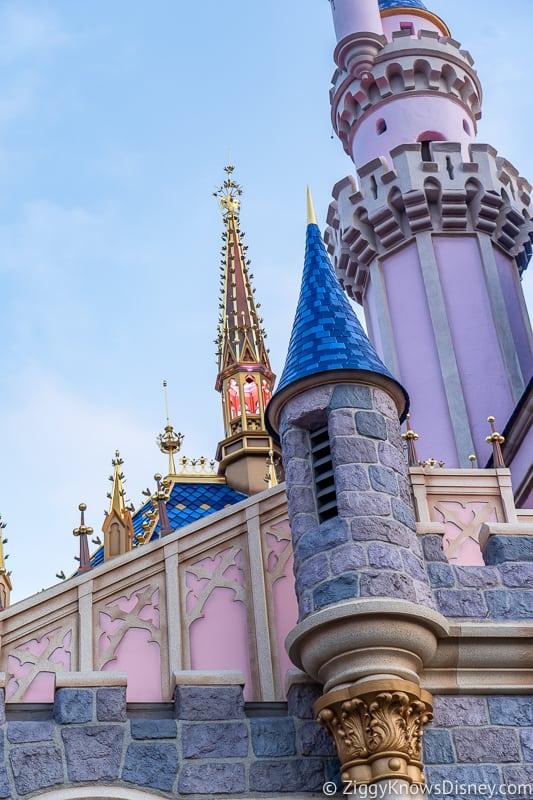notre dame tower on Sleeping Beauty Castle Disneyland